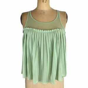 Pins & Needles Mesh Detail Pleated Blouse Size XS